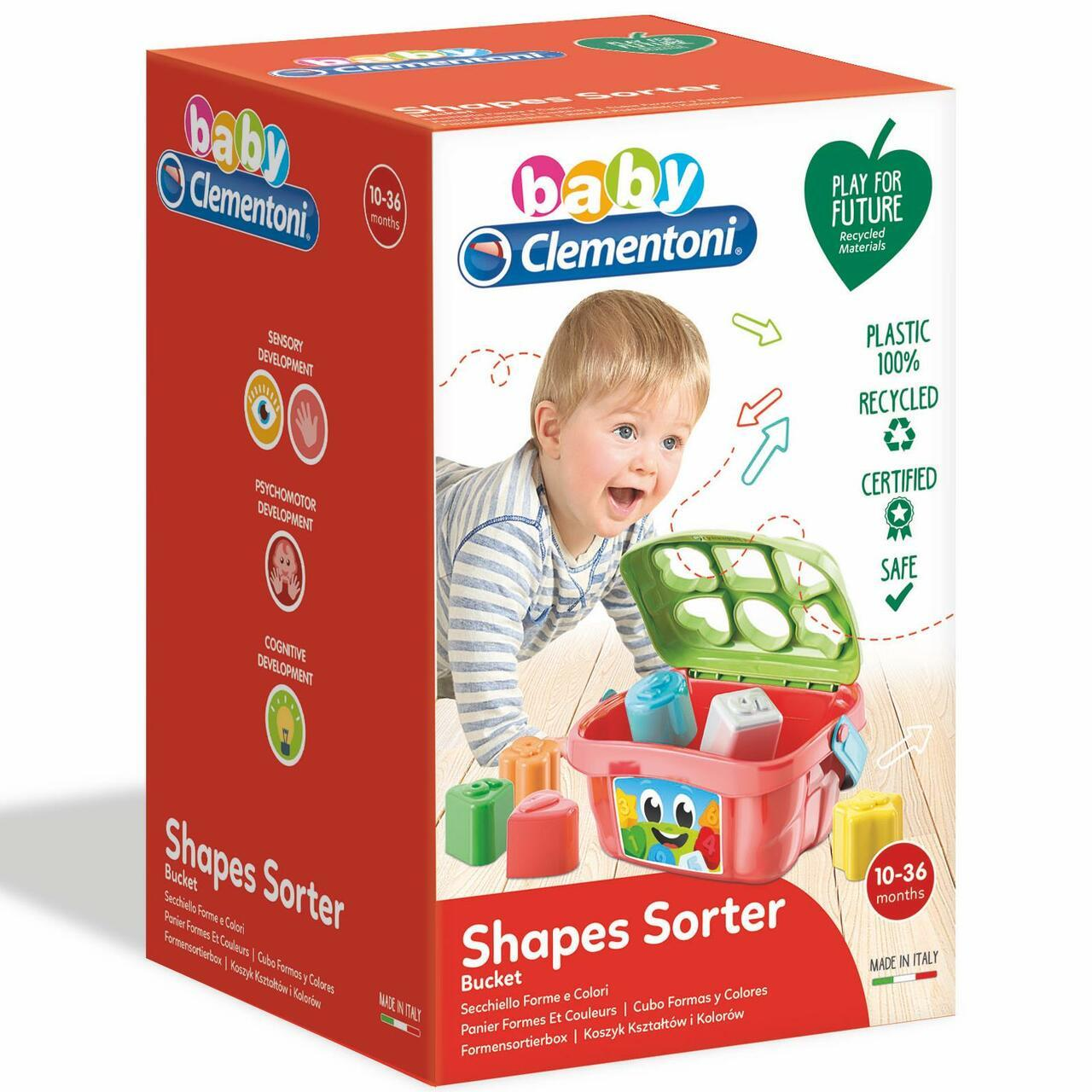 Baby Clementoni Shapes Sorter Bucket3