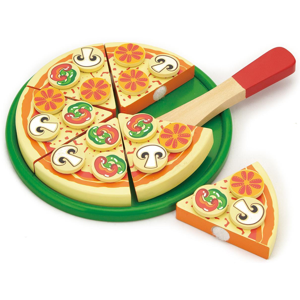 Viga Wooden Take Apart Pizza1