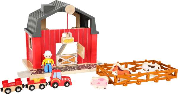 Small Foot Wooden Farm Yard Playset1