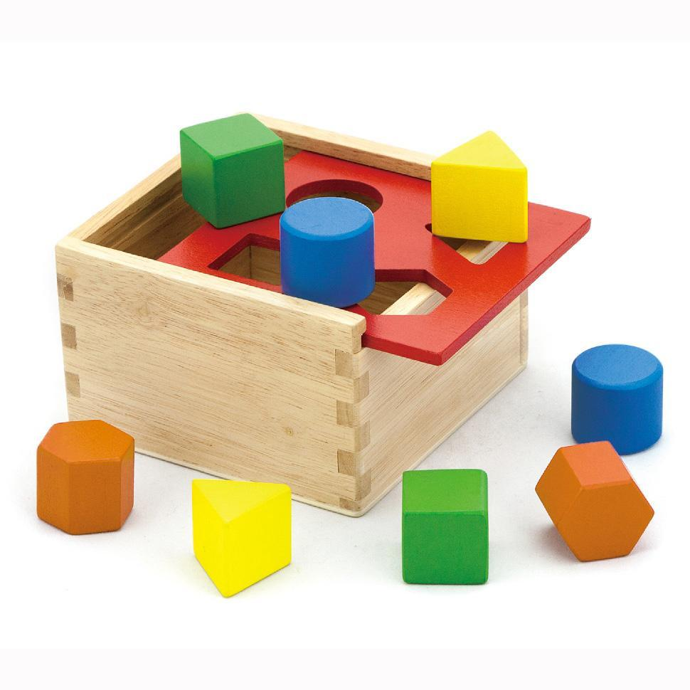 Viga Wooden Shape Sorting Cube1