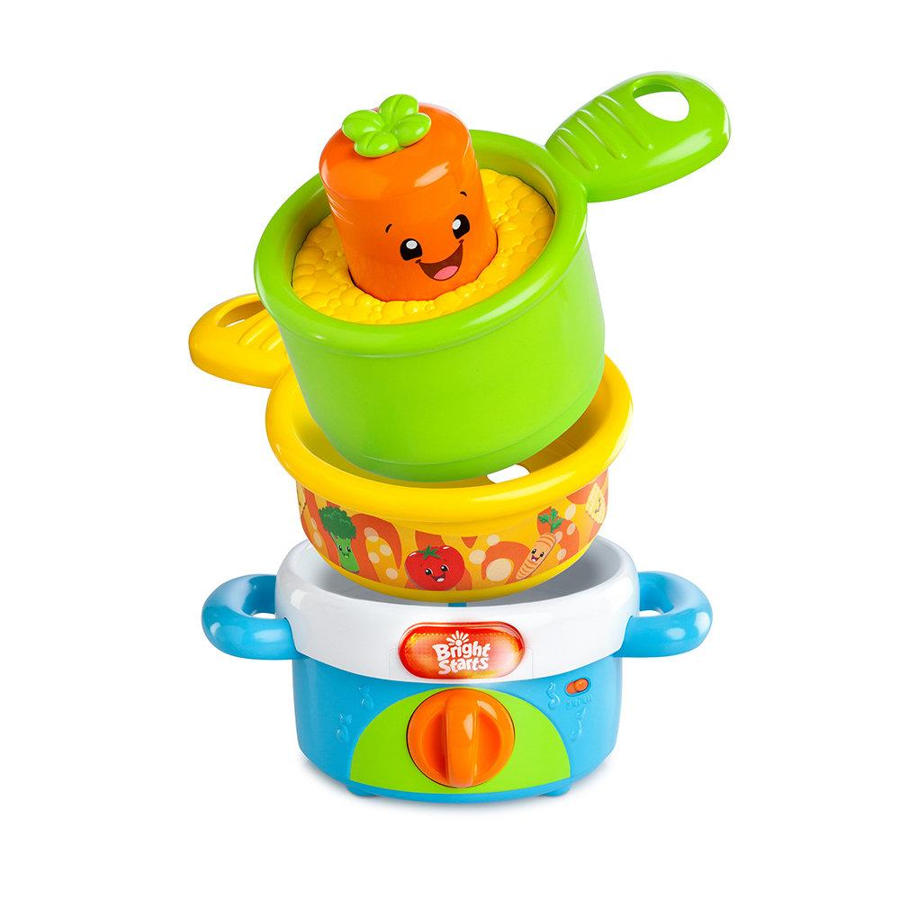 Bright Starts Giggling Gourmet Nest 'N' Sing Pots1