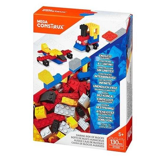 Mega Construx 130 Piece Daring Colours Bricks Box1