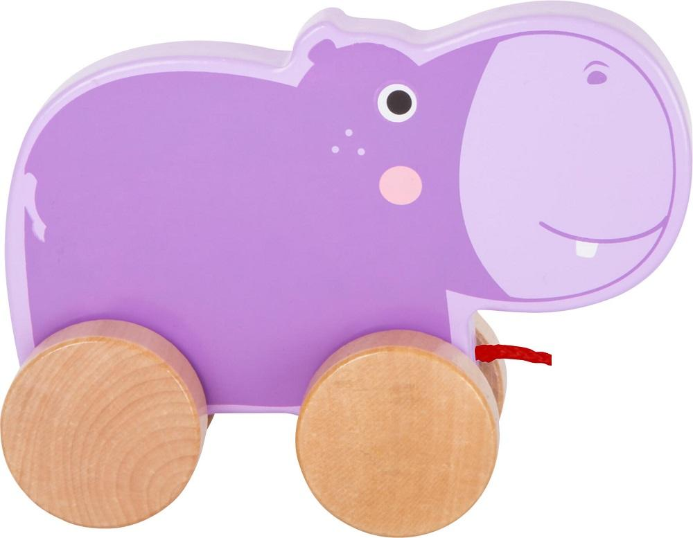 Small Foot Wooden Pull Along Hippo1