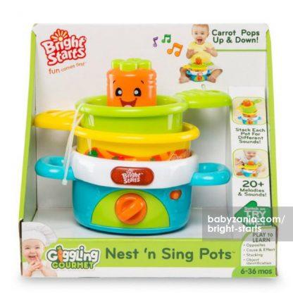 Bright Starts Giggling Gourmet Nest 'N' Sing Pots4