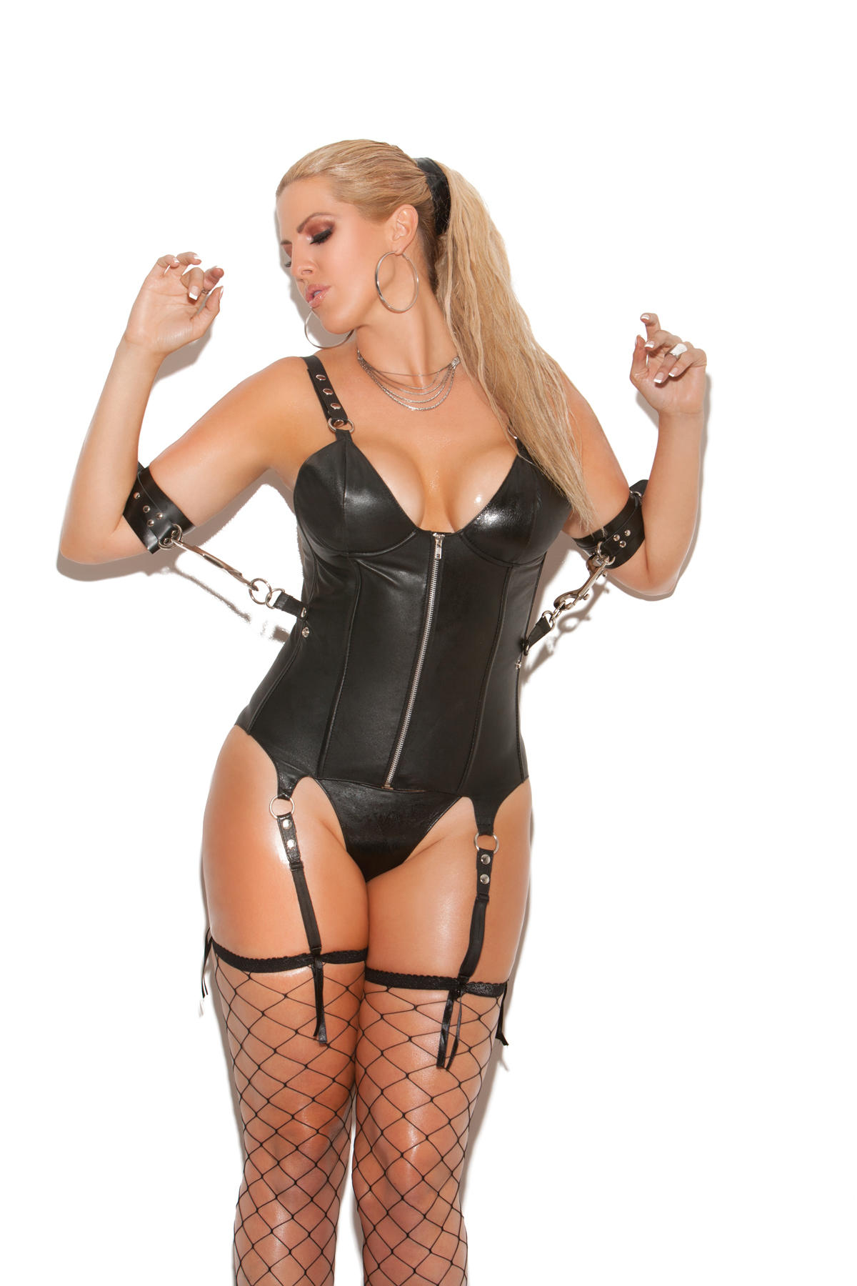 Leather Corset With Side Restraints
