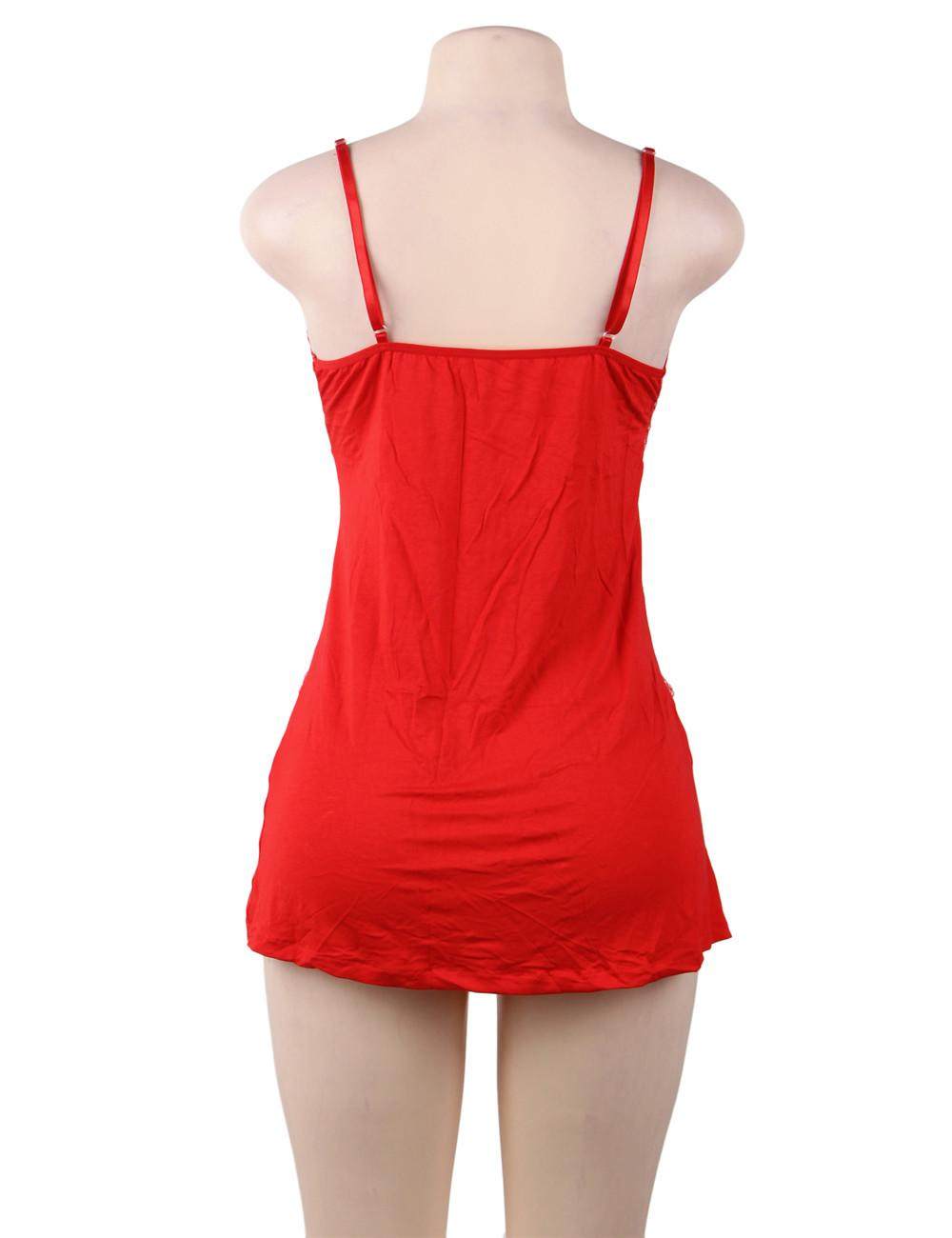 Red Victoria Babydoll rear view