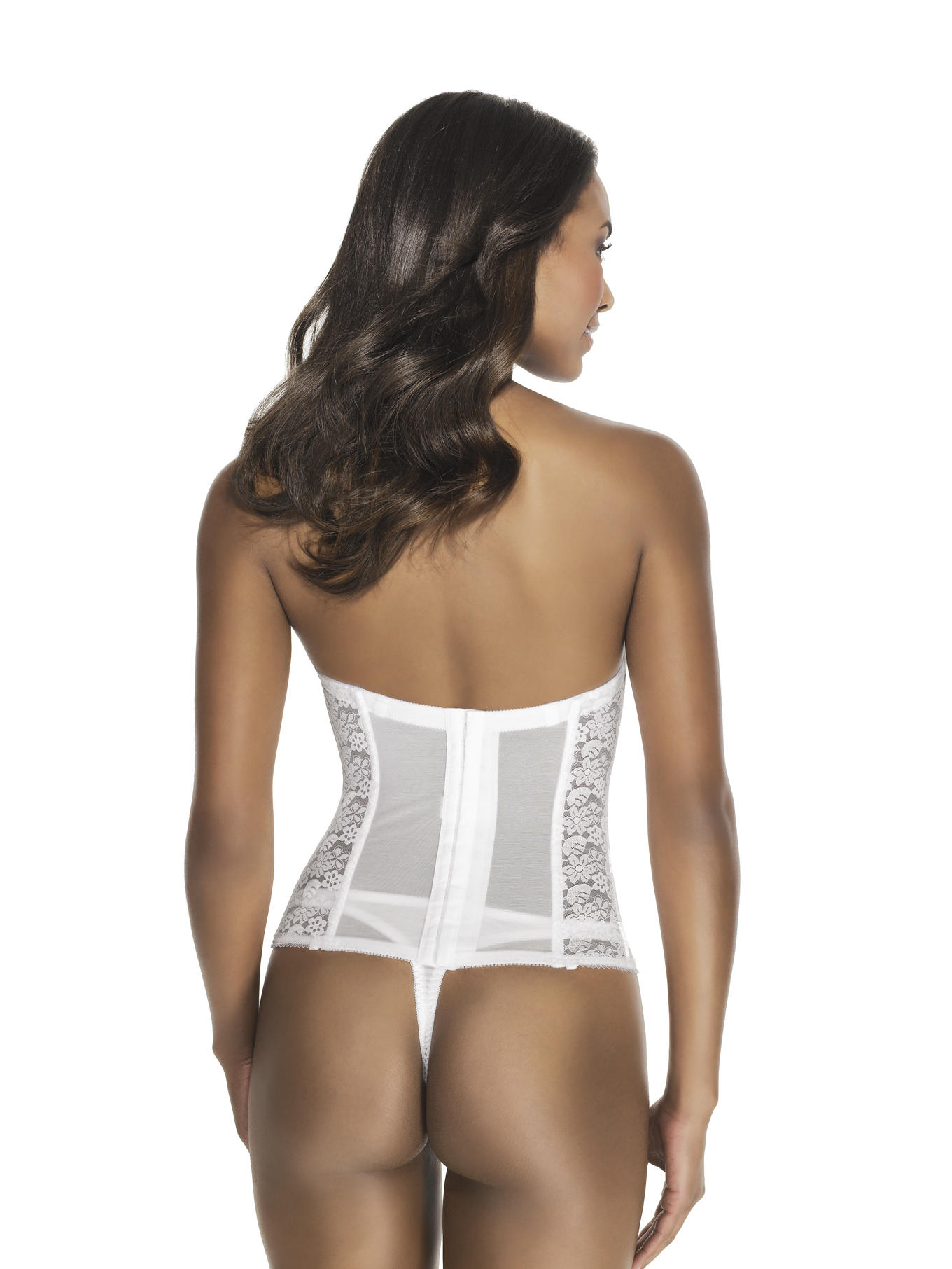 Lace Strapless Basque rear
