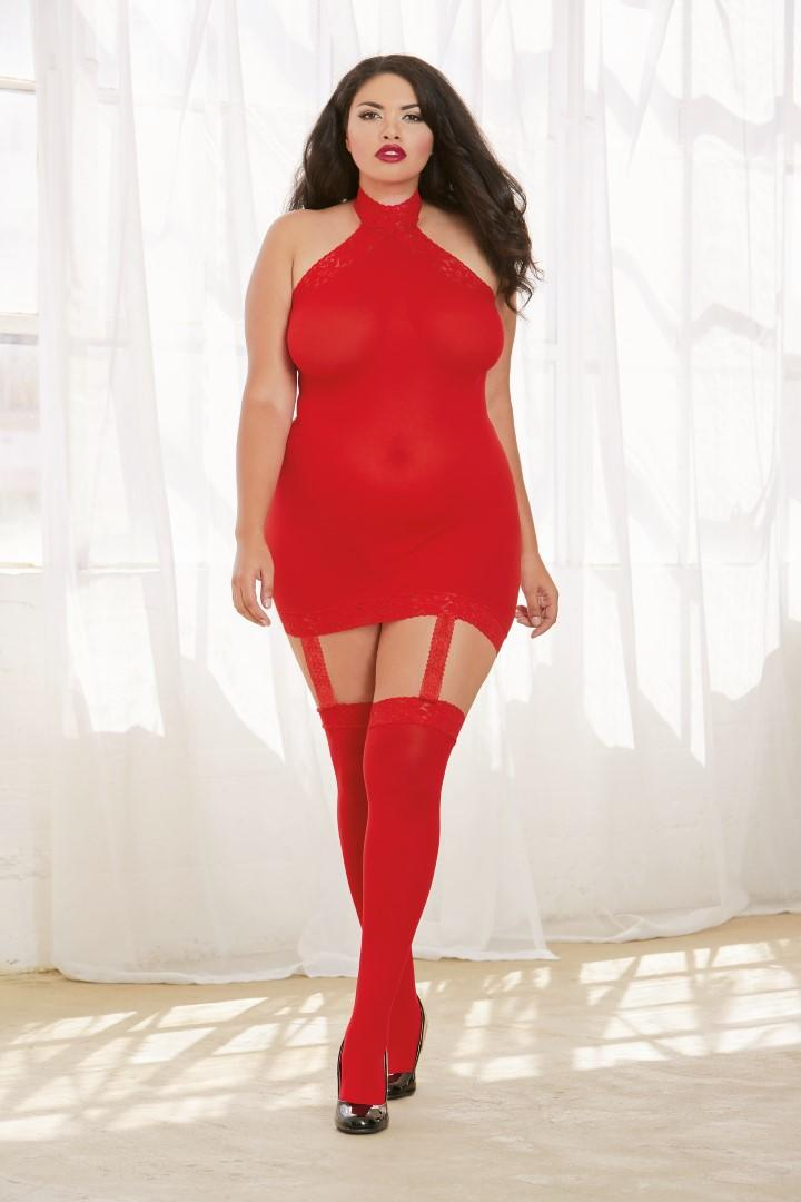 Red Sheer Dress