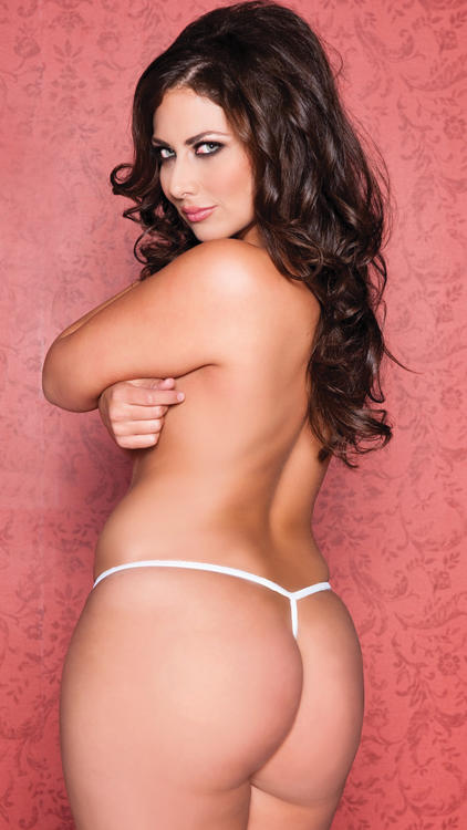 White Open Crotch Lace Thong rear