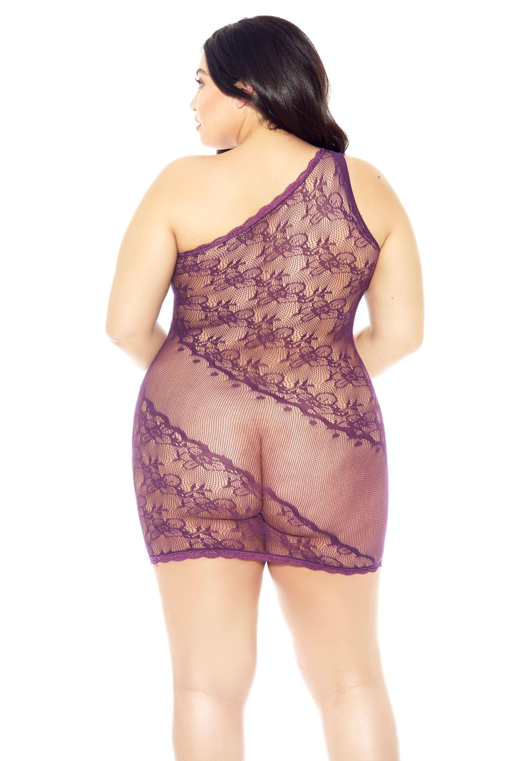 Purple Rain Plus Size Chemise rear view