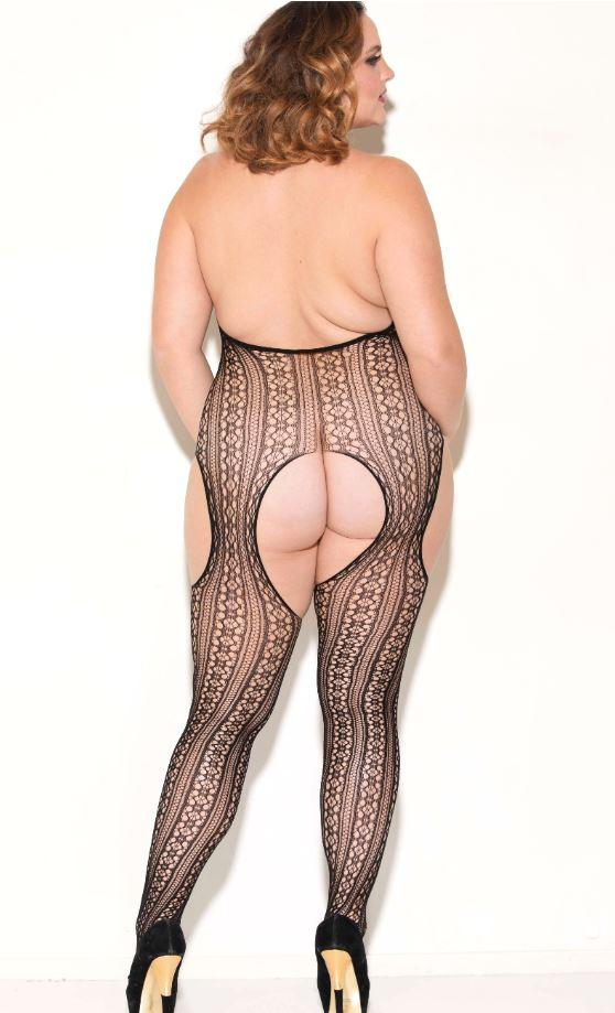 Open Crotch Bodystocking rear view