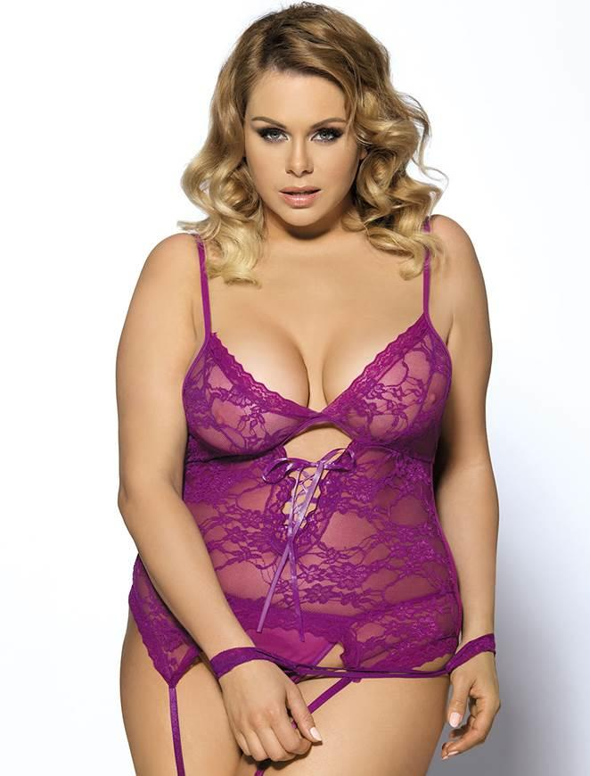 Purple Lace Teddy