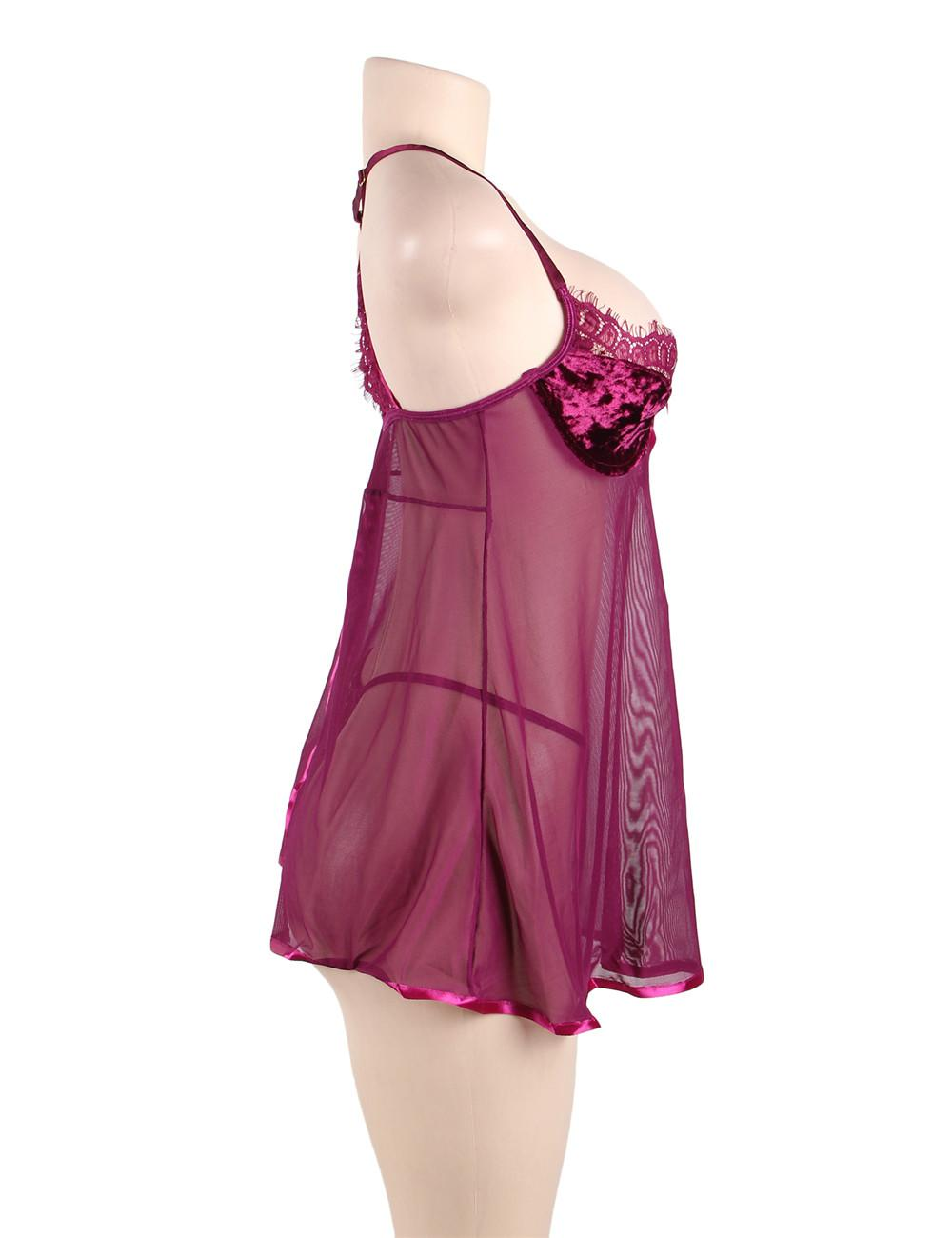 Velvet Underground Babydoll Set side view