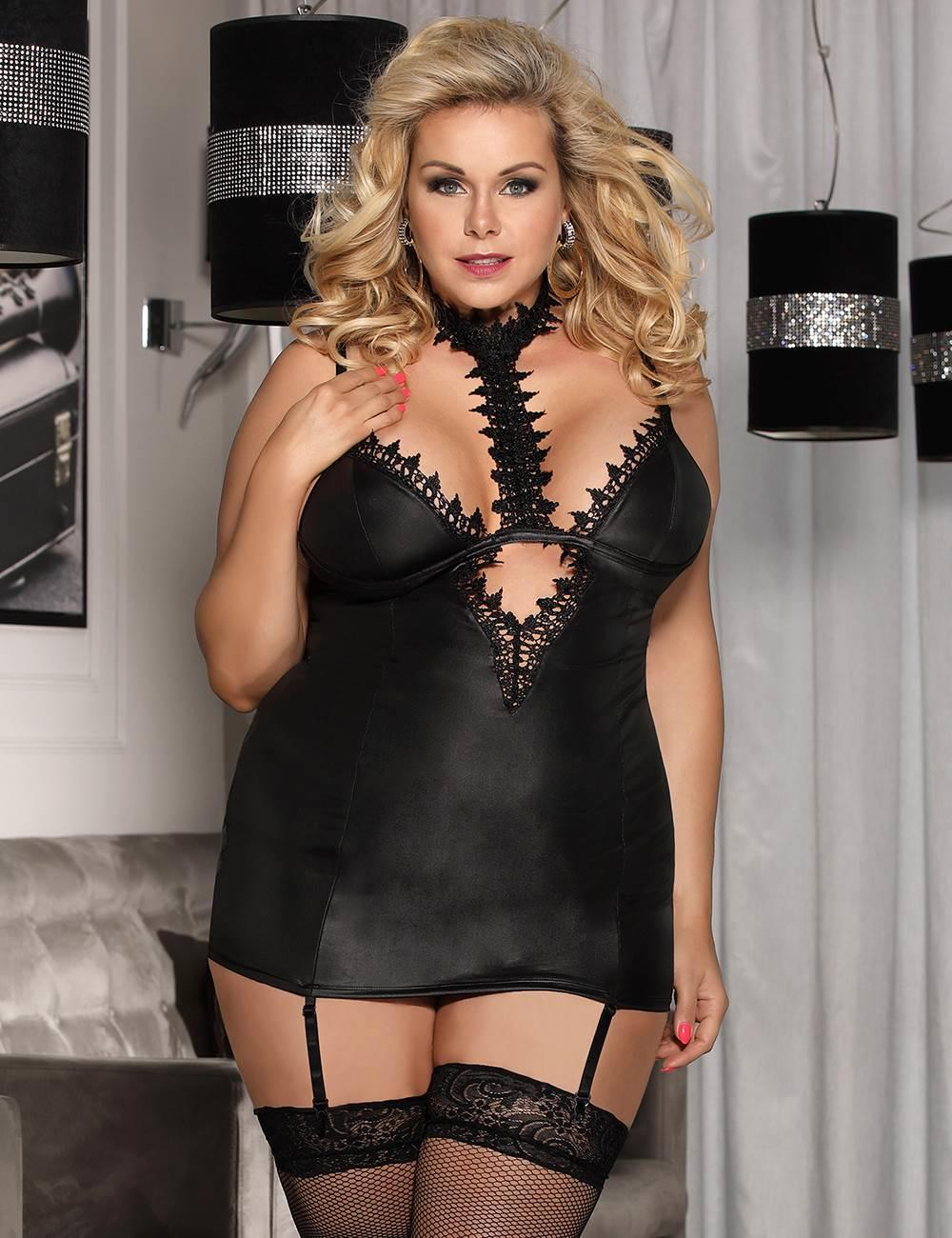 PVC Chemise With Choker