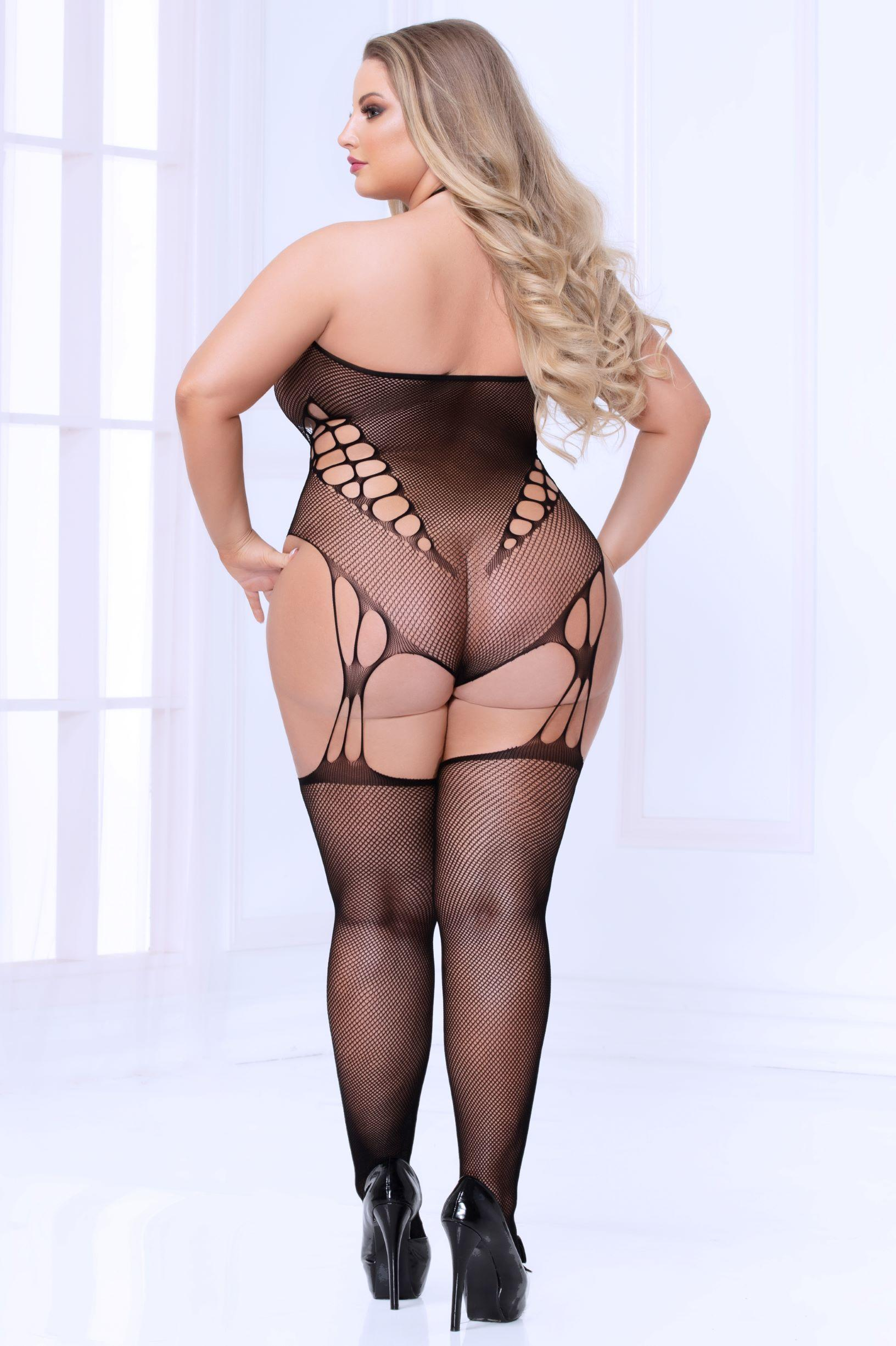 Halterneck Bodystocking rear view