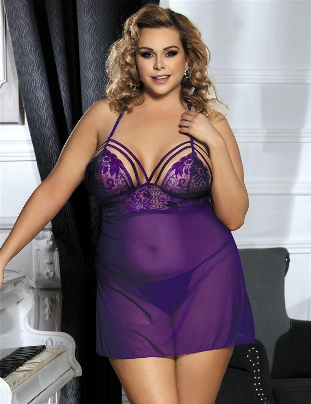Forbidden Fruit Purple Babydoll Set