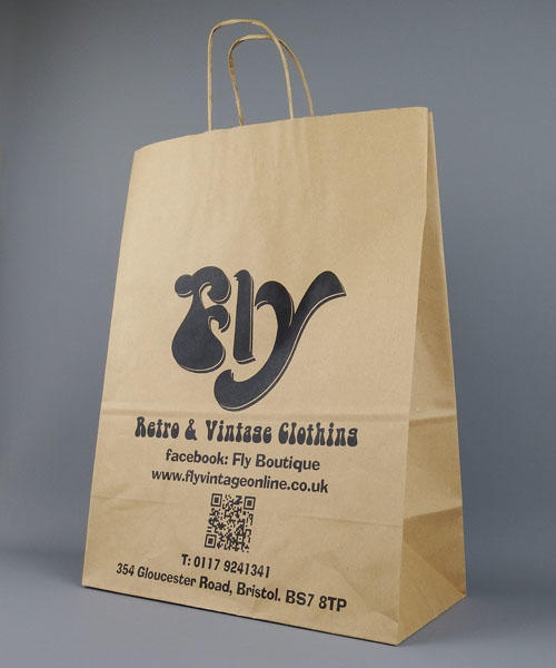 Brown Kraft paper bags with handles