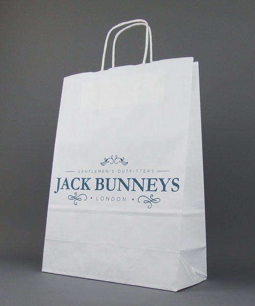 white twisted handle paper carrier bag