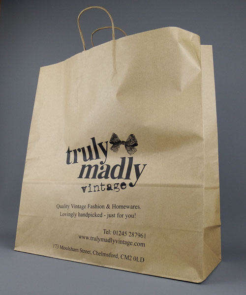 extra large brown paper bag with handles