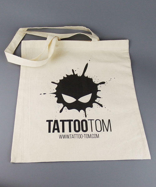 Cotton bags printed with black ink