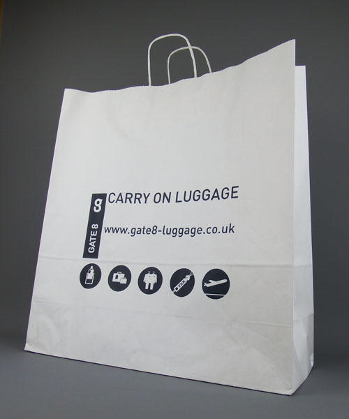 extra large white twist paper handle bag