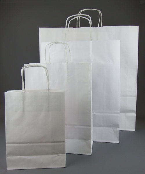 white kraft twisted handle paper bags