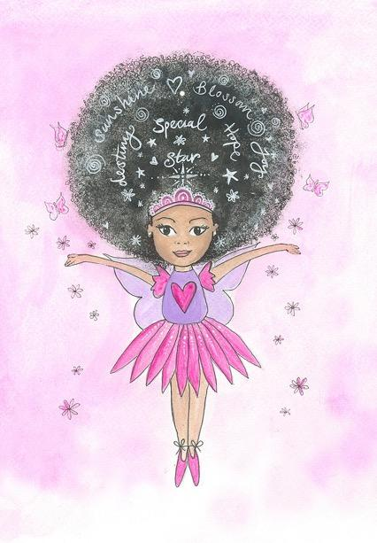 Fairy afro christmas card
