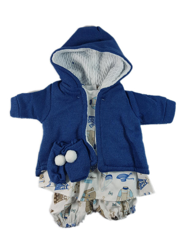 Blue and white dolls outfit