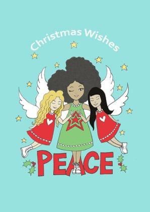 afro angel christmas card