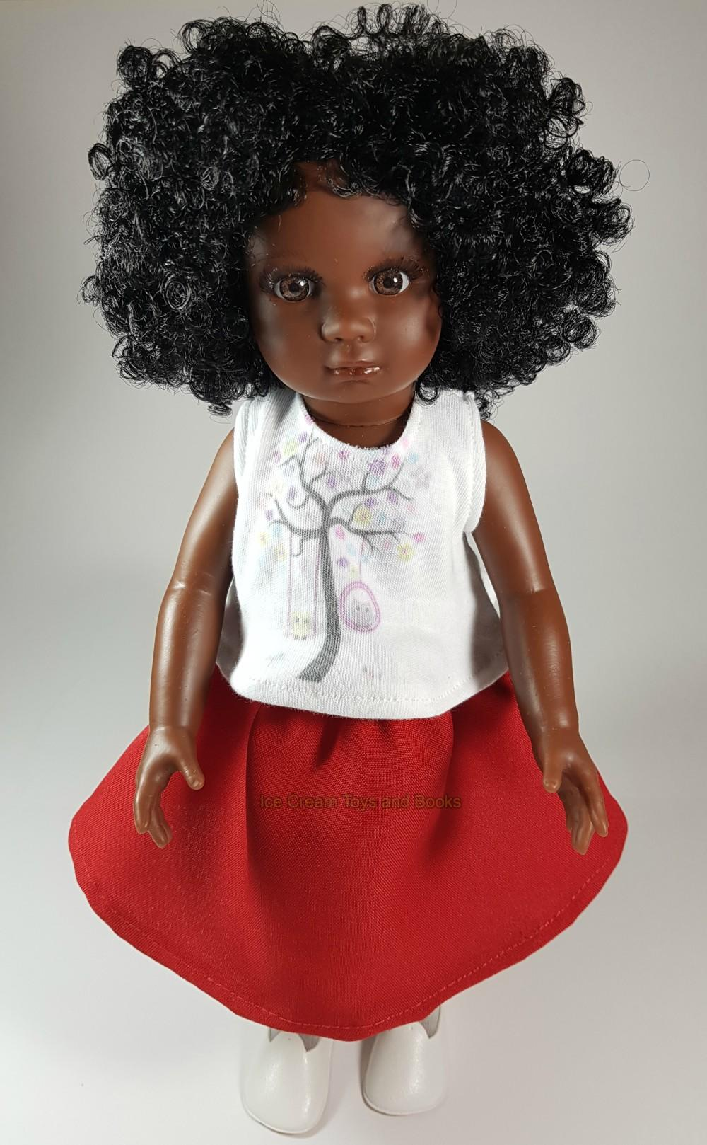 black doll with black hair