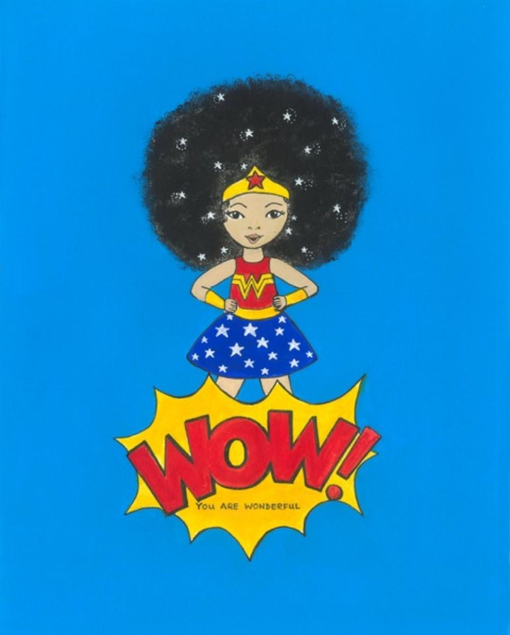 wonder girl card blue