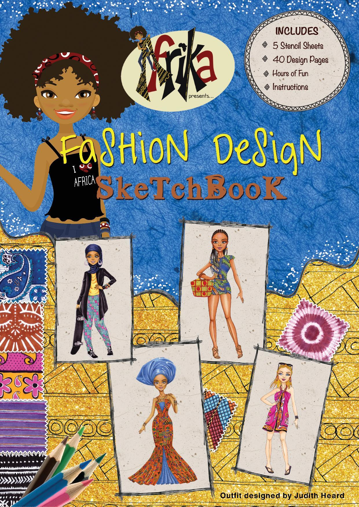 Front cover afrika fashion sketchbook