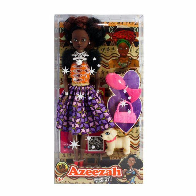 Azeezah black doll in african outfit