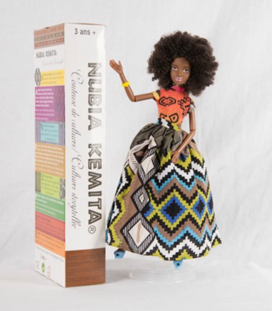African doll in colourful dress