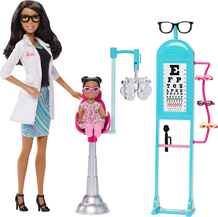 Barbie eye doctor black doll
