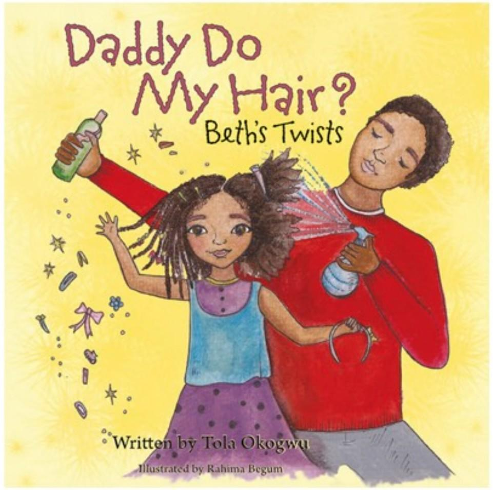 father and child hair care book yellow cover