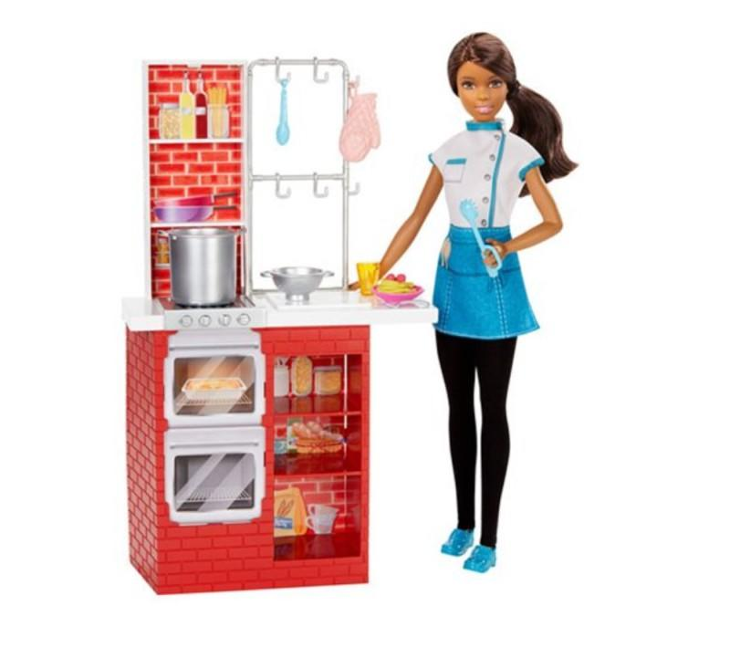 Black barbie chef set