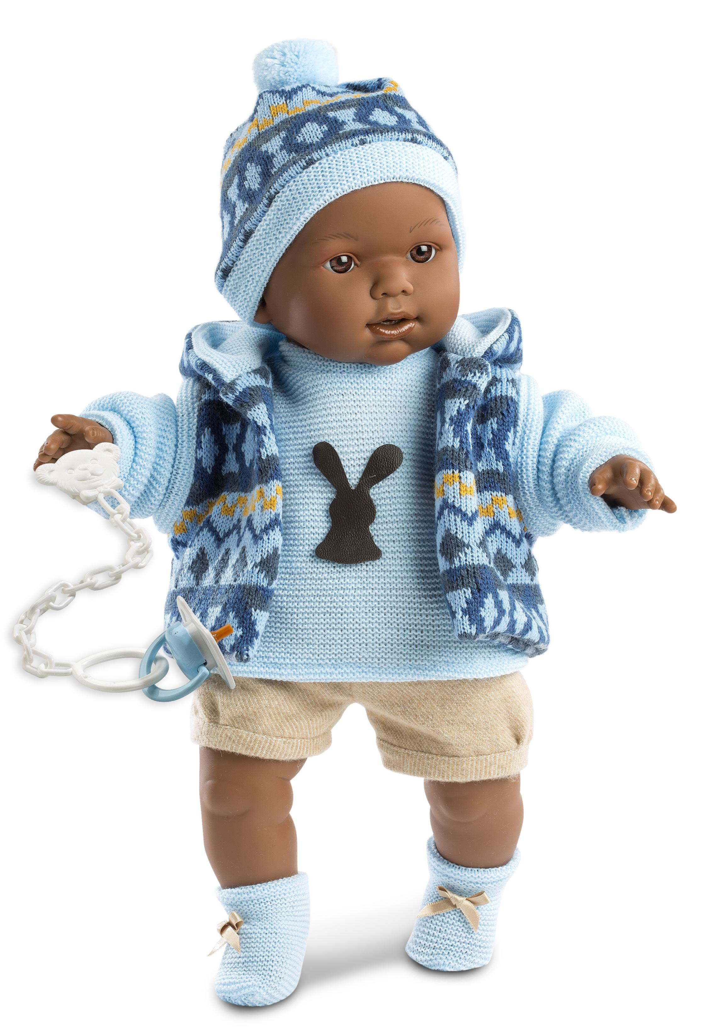 Nathan doll with blue outfit