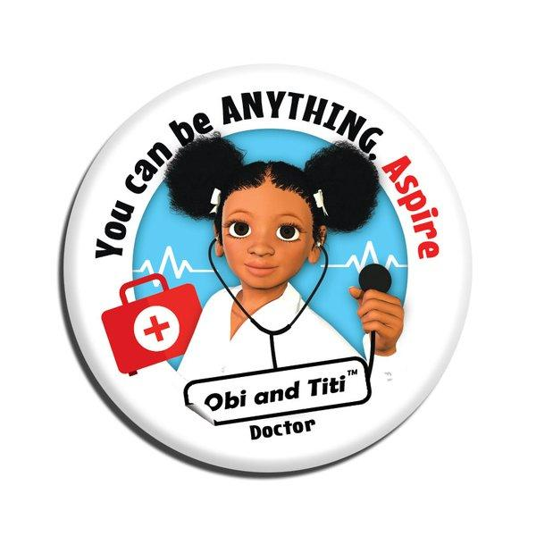 Black girl doctor badge