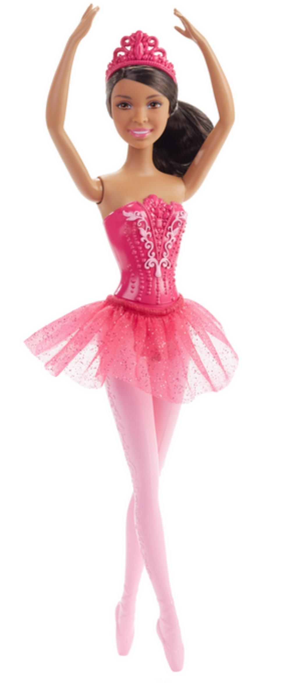 african doll in pink ballerina outfit