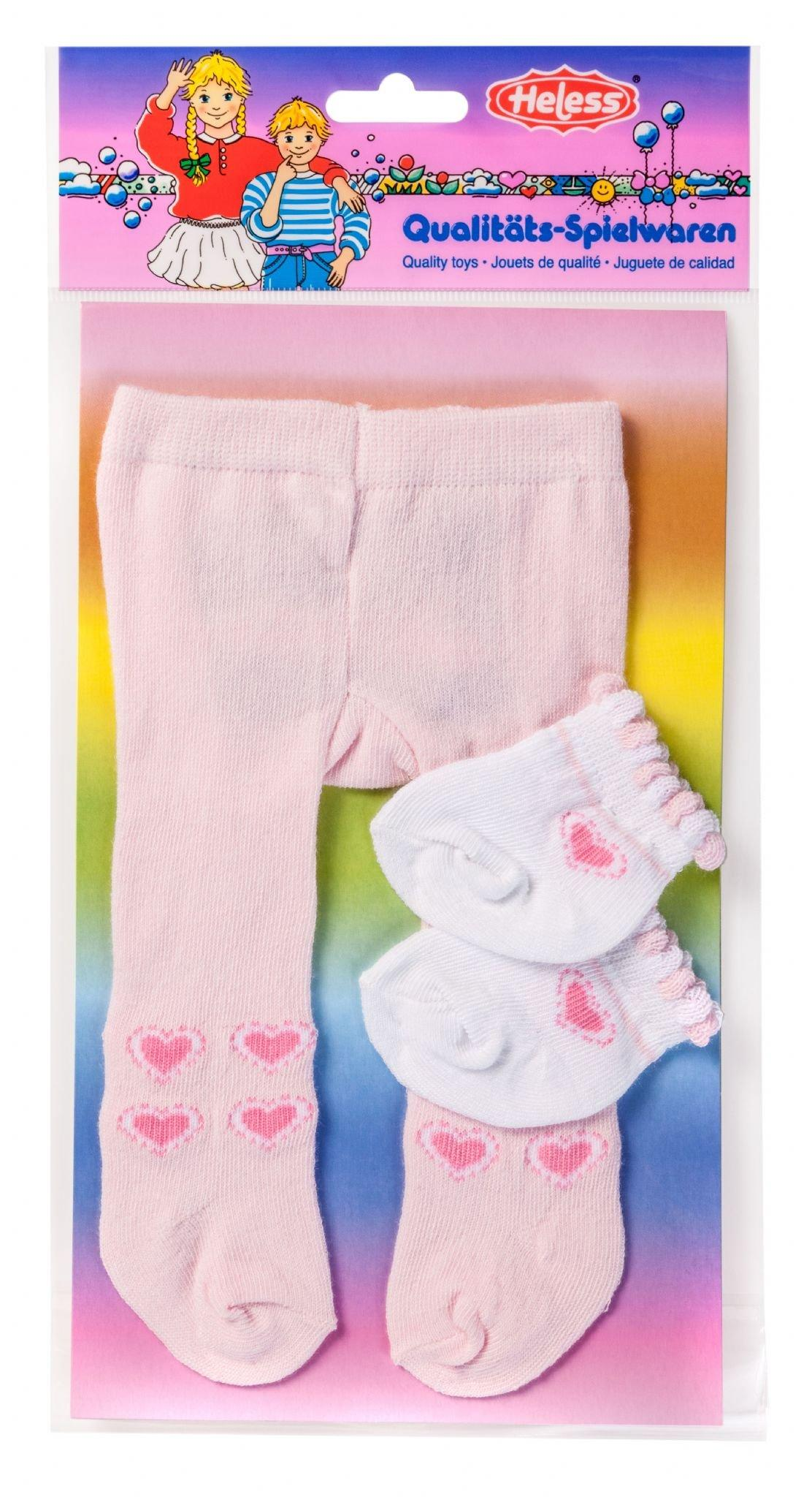 Dolls pink tights and white socks