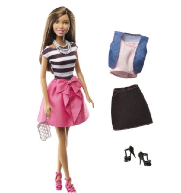 Barbie black doll with fashion clothes