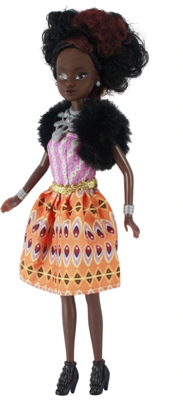 Queens of Africa black doll with puppy dog