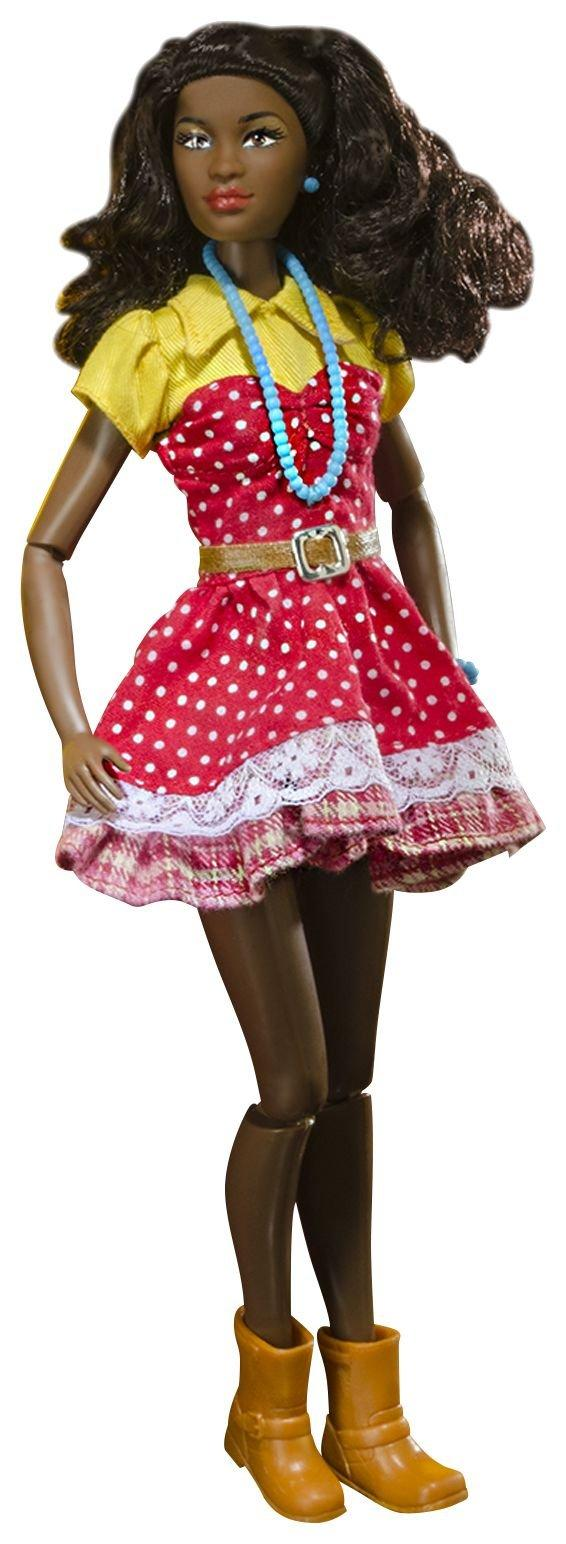 Kimani doll in red polka dot dress