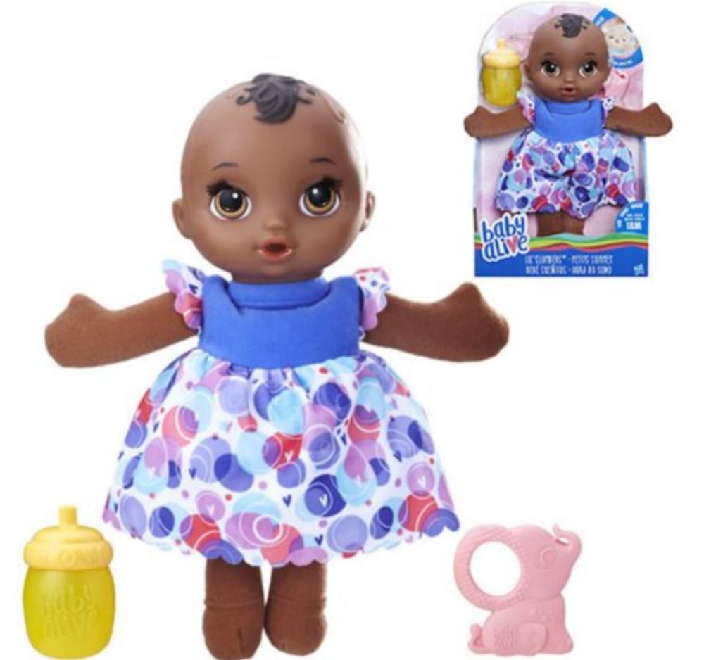 Baby alive doll in floral dress