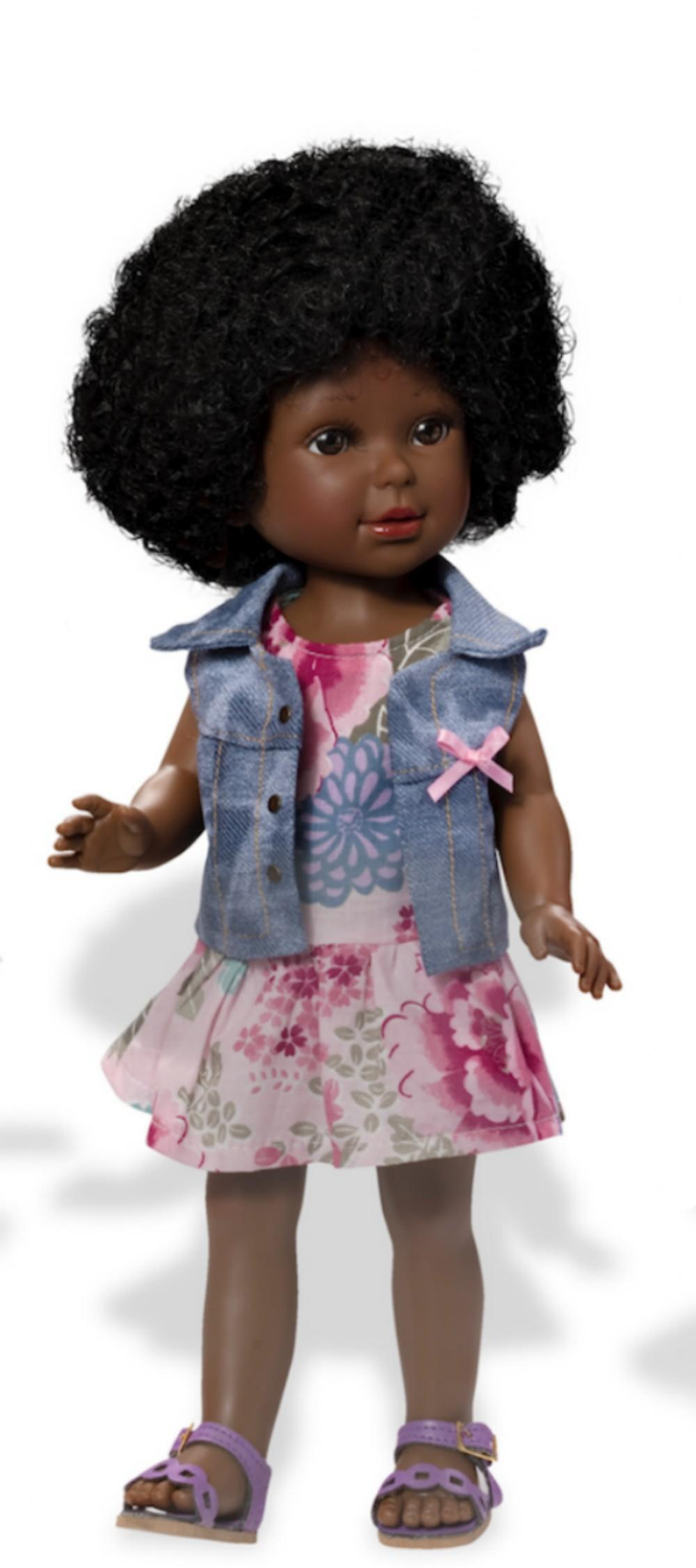 Paulina ethnic doll with Afro hair and flower dress