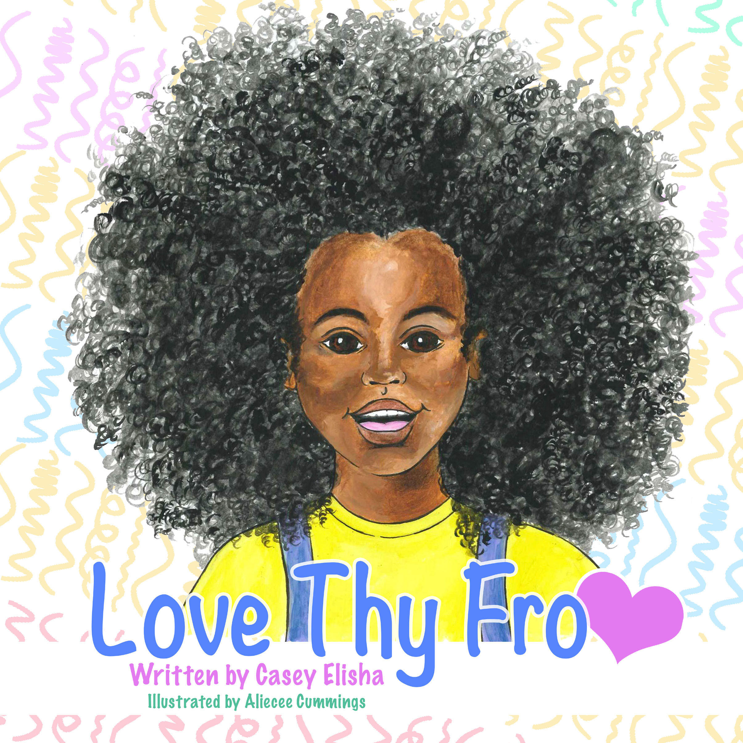 Black girl with afro hair on a book cover