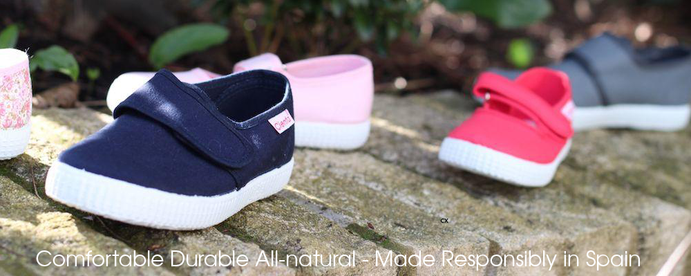 Cienta UK Kids Plimsolls - Machine Washable Scented Soles