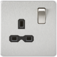 Brushed Chrome Screwless Switches & Sockets from Knightsbridge