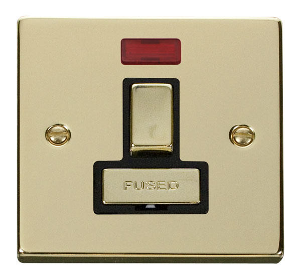 Victorian Polished Brass Switches and Sockets - Click Deco